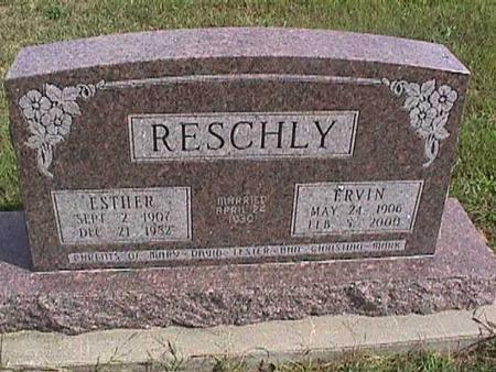 RESCHLY, ESTHER - Henry County, Iowa | ESTHER RESCHLY