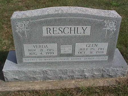 RESCHLY, VERDA - Henry County, Iowa   VERDA RESCHLY