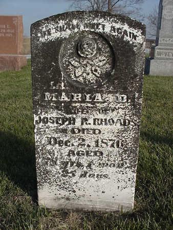 RHOADS, MARIA D. - Henry County, Iowa   MARIA D. RHOADS