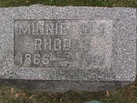 RHODES, MINNIE - Henry County, Iowa | MINNIE RHODES