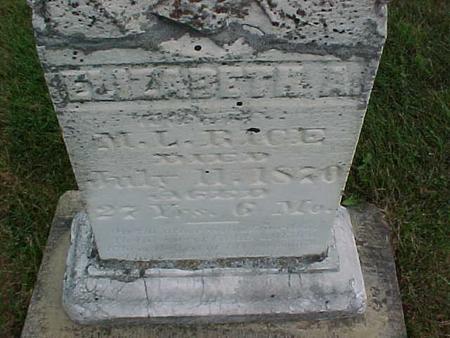 RICE, ELIZABETH - Henry County, Iowa | ELIZABETH RICE