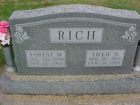 RICH, LILLIE N - Henry County, Iowa | LILLIE N RICH