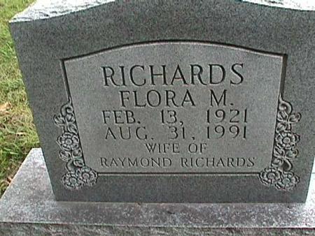 RICHARDS, FLORA M. - Henry County, Iowa | FLORA M. RICHARDS