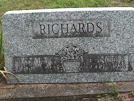 RICHARDS, BLANCHE B - Henry County, Iowa | BLANCHE B RICHARDS