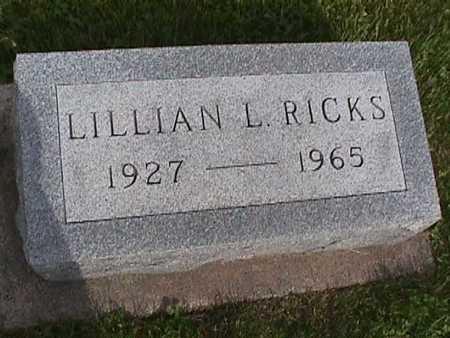 RICKS, LILLIAN L. - Henry County, Iowa   LILLIAN L. RICKS