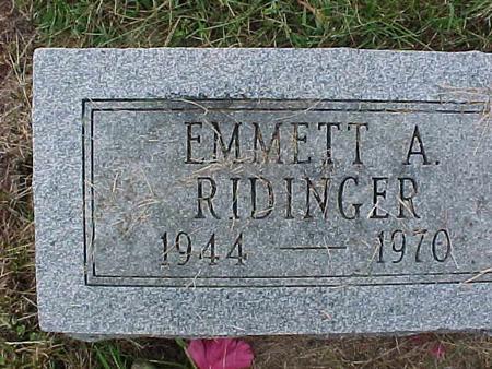RIDINGER, EMMETT A - Henry County, Iowa | EMMETT A RIDINGER