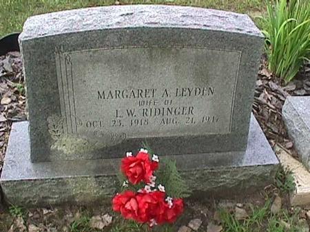 LEYDEN RIDINGER, MARGARET A - Henry County, Iowa | MARGARET A LEYDEN RIDINGER