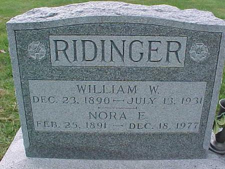 RIDINGER, NORA E - Henry County, Iowa | NORA E RIDINGER