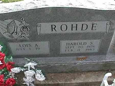 ROHDE, HAROLD S - Henry County, Iowa | HAROLD S ROHDE