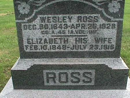 ROSS, ELIZABETH - Henry County, Iowa | ELIZABETH ROSS