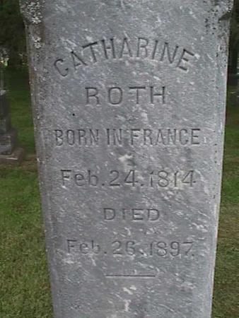 ROTH, CATHARINE - Henry County, Iowa | CATHARINE ROTH