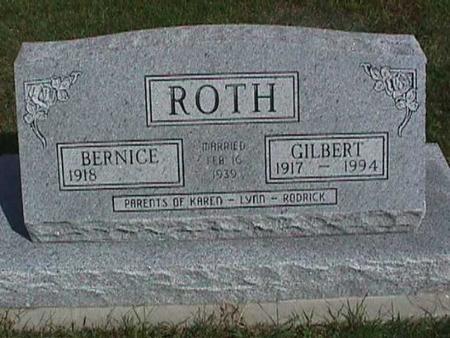 ROTH, BERNICE - Henry County, Iowa | BERNICE ROTH