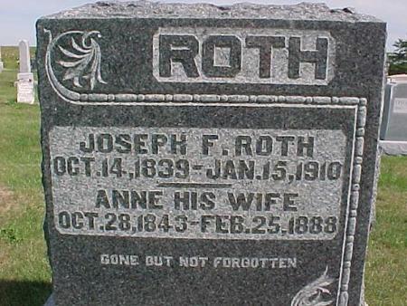 ROTH, JOSEPH F. - Henry County, Iowa   JOSEPH F. ROTH
