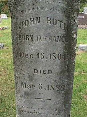 ROTH, JOHN - Henry County, Iowa | JOHN ROTH