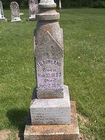 ROWLAND, J. B. - Henry County, Iowa   J. B. ROWLAND