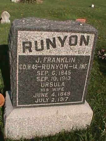 RUNYON, J. FRANKILIN - Henry County, Iowa | J. FRANKILIN RUNYON