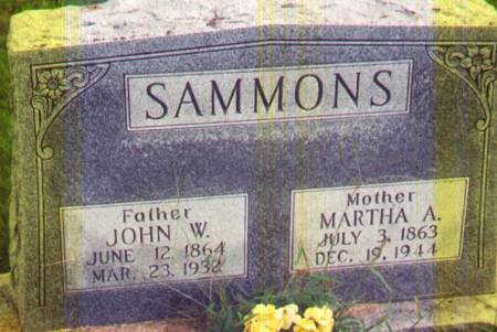 SAMMONS, MARTHA A - Henry County, Iowa | MARTHA A SAMMONS