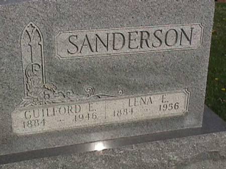 SANDERSON, LENA E. - Henry County, Iowa   LENA E. SANDERSON