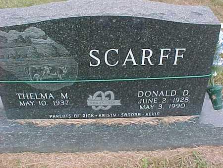 SCARFF, DONALD - Henry County, Iowa   DONALD SCARFF