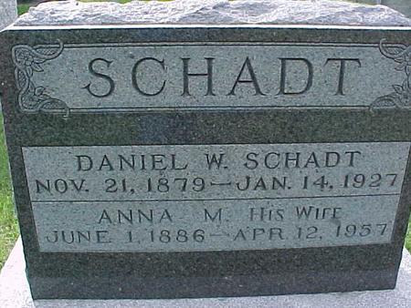 SCHADT, ANNA M - Henry County, Iowa   ANNA M SCHADT