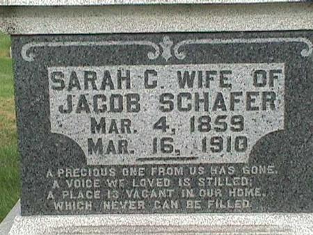 SCHAFER, SARAH C - Henry County, Iowa   SARAH C SCHAFER