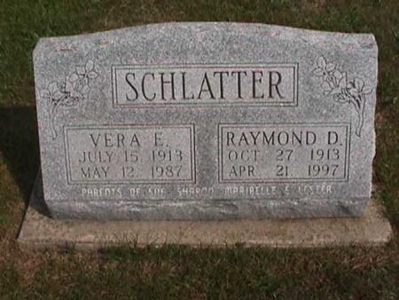 SCHLATTER, VERA E. - Henry County, Iowa | VERA E. SCHLATTER