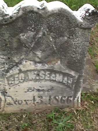 SEAMAN, GEORGE W. - Henry County, Iowa | GEORGE W. SEAMAN