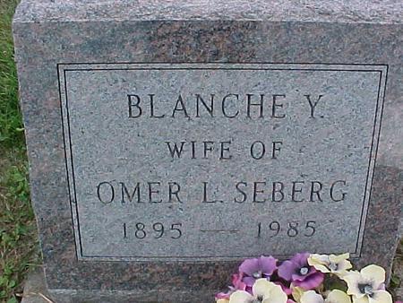 SEBERG, BLANCHE Y. - Henry County, Iowa | BLANCHE Y. SEBERG