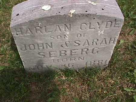 SEBERG, HARLAN CLYDE - Henry County, Iowa   HARLAN CLYDE SEBERG