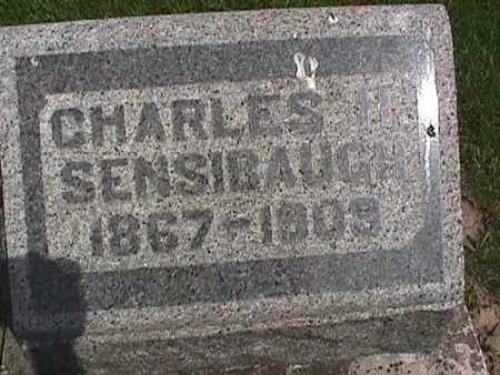 SENSIBAUGH, CHARLES H - Henry County, Iowa   CHARLES H SENSIBAUGH
