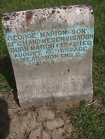 SENSIBAUGH, GEORGE MARION - Henry County, Iowa | GEORGE MARION SENSIBAUGH