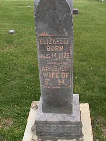 SEPTER, ELIZABETH - Henry County, Iowa | ELIZABETH SEPTER