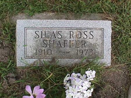 SHAFFER, SILAS ROSS - Henry County, Iowa   SILAS ROSS SHAFFER