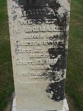 SHUMAKER, MARY A - Henry County, Iowa | MARY A SHUMAKER