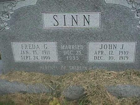 SINN, FREDA G - Henry County, Iowa | FREDA G SINN
