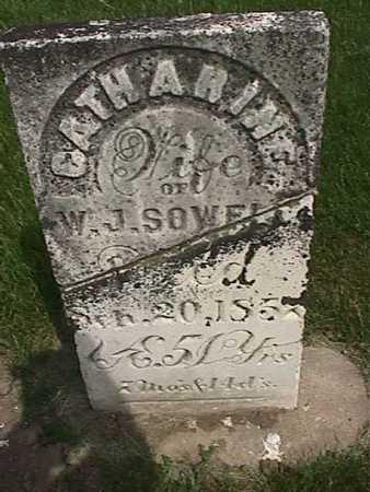 SOWELL, CATHARINE - Henry County, Iowa | CATHARINE SOWELL