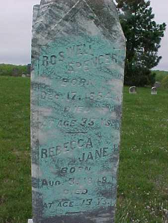 SPENCER, REBECCA JANE - Henry County, Iowa | REBECCA JANE SPENCER