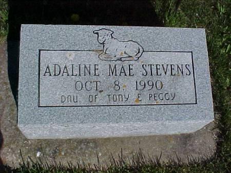 STEVENS, ADALINE MAE - Henry County, Iowa   ADALINE MAE STEVENS