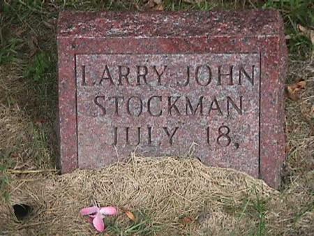 STOCKMAN, LARRY JOHN - Henry County, Iowa | LARRY JOHN STOCKMAN