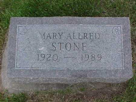 ALLRED STONE, MARY - Henry County, Iowa | MARY ALLRED STONE
