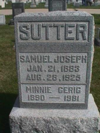 GERIG SUTTER, MINNIE - Henry County, Iowa | MINNIE GERIG SUTTER