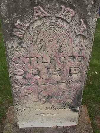 TILFORD, MARY - Henry County, Iowa   MARY TILFORD