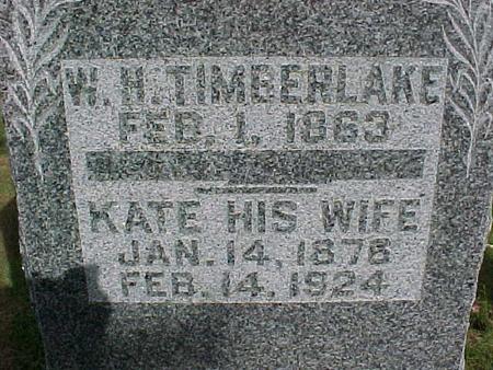 TIMBERLAKE, W. H. - Henry County, Iowa | W. H. TIMBERLAKE