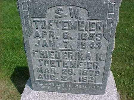 TOETEMEIER, FRIEDERIKA K. - Henry County, Iowa | FRIEDERIKA K. TOETEMEIER