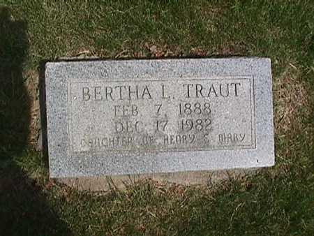 TRAUT, BERTHA L - Henry County, Iowa | BERTHA L TRAUT