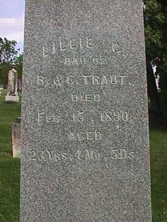 TRAUT, LILLIE C. - Henry County, Iowa   LILLIE C. TRAUT