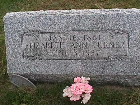 TURNER, ELIZABETH ANN - Henry County, Iowa | ELIZABETH ANN TURNER