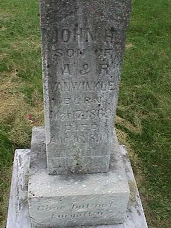 VANWINKLE, JOHN H - Henry County, Iowa   JOHN H VANWINKLE