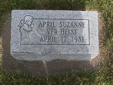 VERHELST, APRIL SUZANNE - Henry County, Iowa   APRIL SUZANNE VERHELST