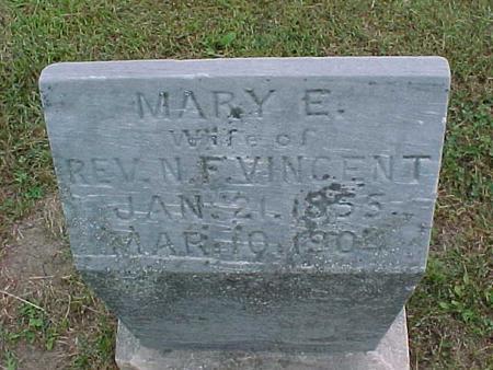 VINCENT, MARY E. - Henry County, Iowa | MARY E. VINCENT
